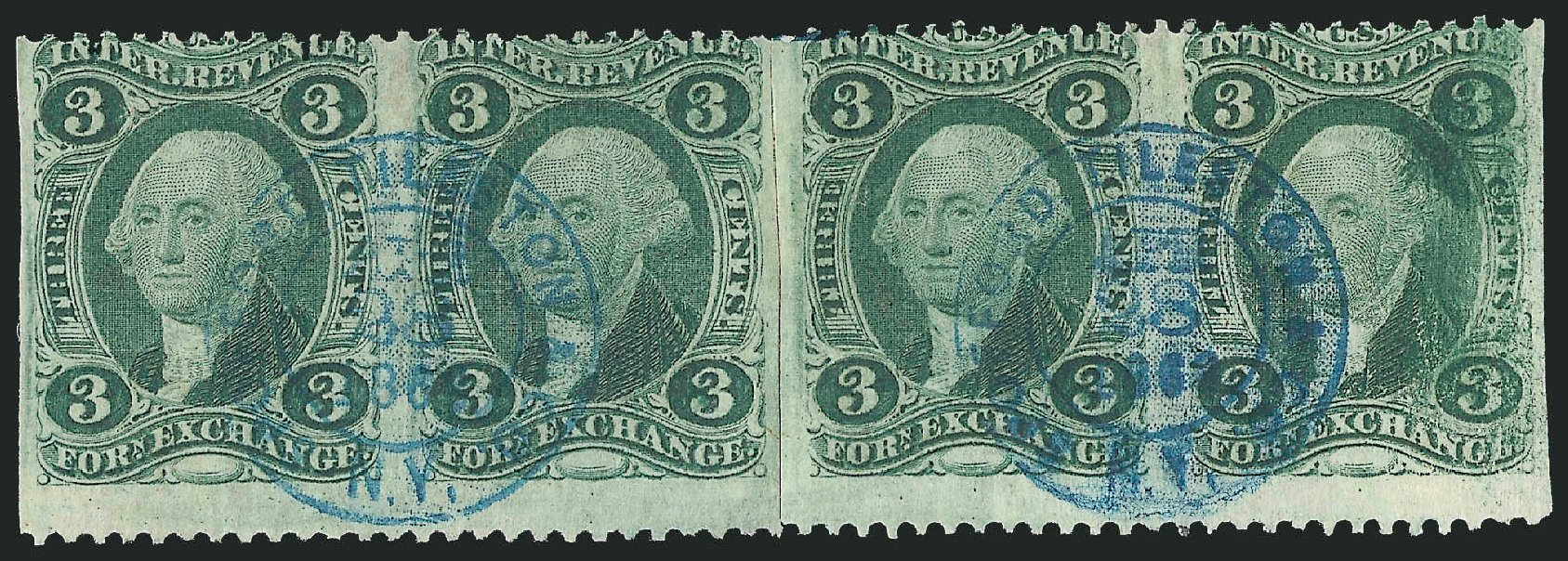 Cost of US Stamps Scott Catalogue R16: 3c 1862 Revenue Foreign Exchange. Robert Siegel Auction Galleries, Dec 2014, Sale 1089, Lot 392