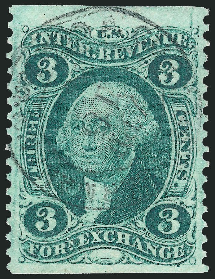 US Stamp Prices Scott #R16: 3c 1862 Revenue Foreign Exchange. Robert Siegel Auction Galleries, Nov 2011, Sale 1015, Lot 46