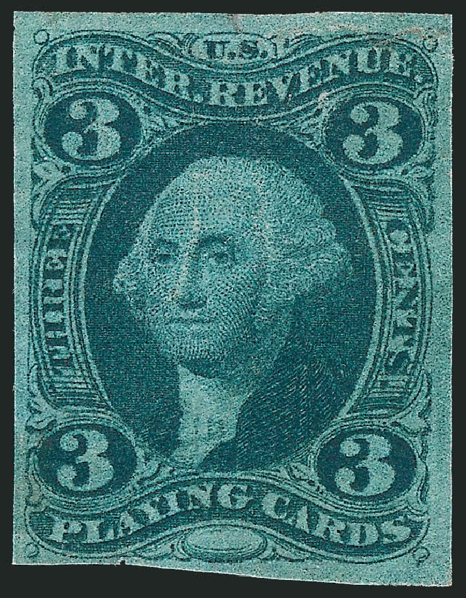 Value of US Stamps Scott Cat. #R17: 3c 1863 Revenue Playing Cards. Robert Siegel Auction Galleries, Oct 2012, Sale 1031, Lot 1004