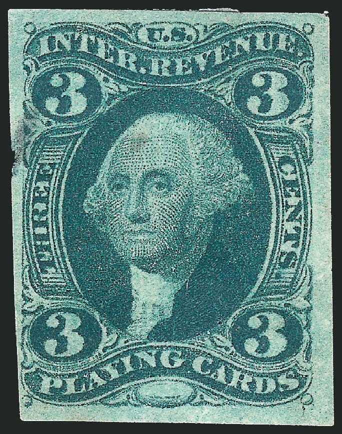 US Stamp Prices Scott Cat. # R17 - 1863 3c Revenue Playing Cards. Robert Siegel Auction Galleries, Mar 2014, Sale 1067, Lot 522