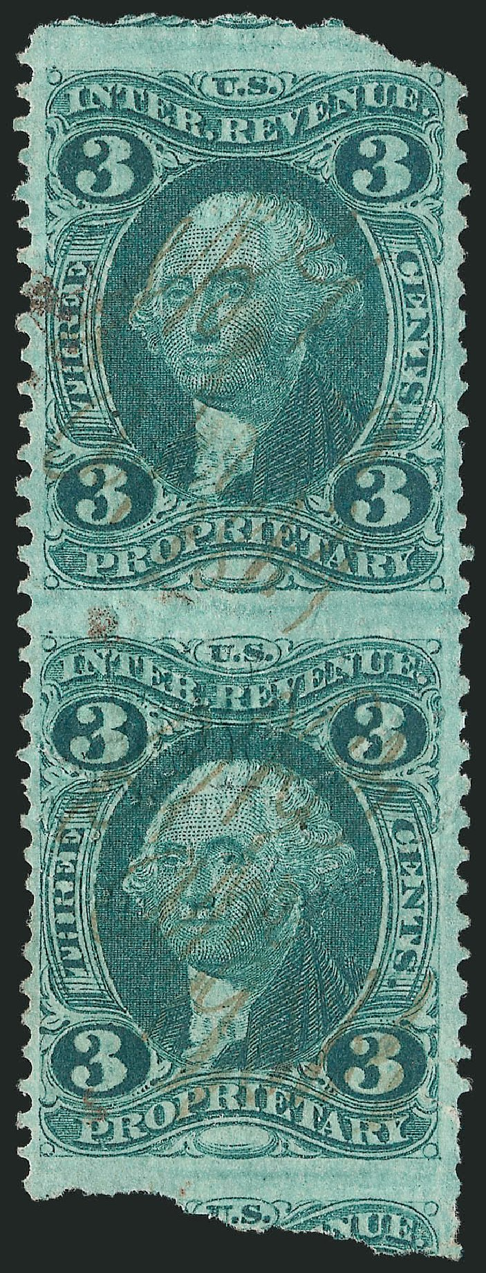 Price of US Stamps Scott #R18 - 3c 1862 Revenue Proprietary. Robert Siegel Auction Galleries, Dec 2014, Sale 1089, Lot 288