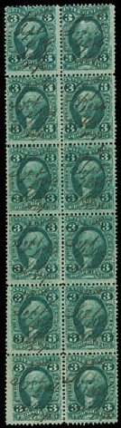 US Stamp Prices Scott Cat. # R18 - 3c 1862 Revenue Proprietary. Matthew Bennett International, Jun 2008, Sale 328, Lot 1363