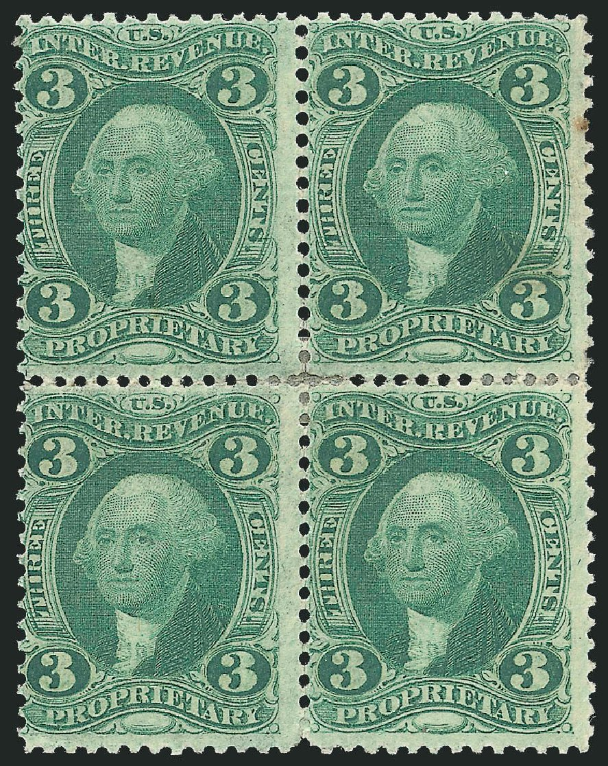 US Stamp Prices Scott Cat. # R18: 3c 1862 Revenue Proprietary. Robert Siegel Auction Galleries, Dec 2014, Sale 1089, Lot 456