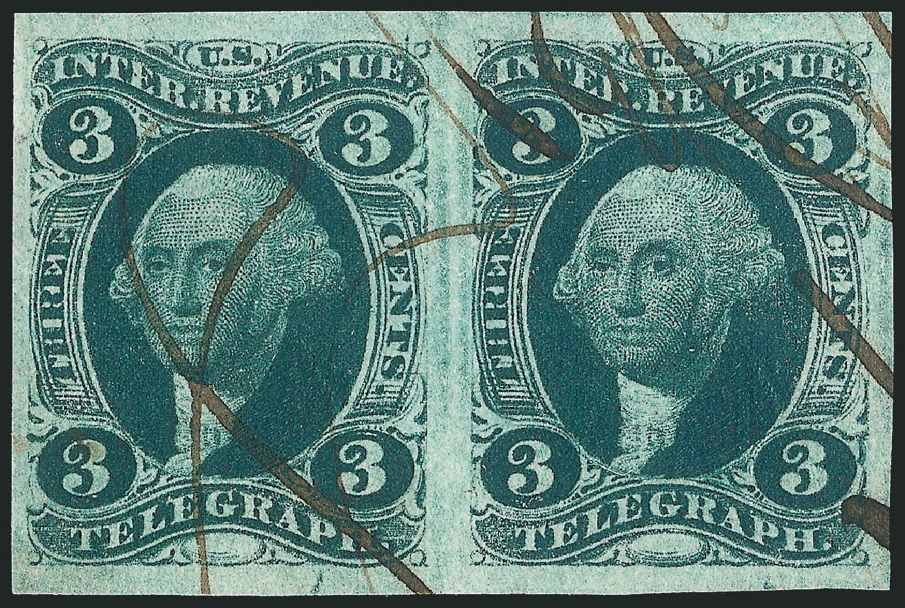 Costs of US Stamp Scott Catalogue # R19 - 3c 1862 Revenue Telegraph. Robert Siegel Auction Galleries, Dec 2014, Sale 1089, Lot 216