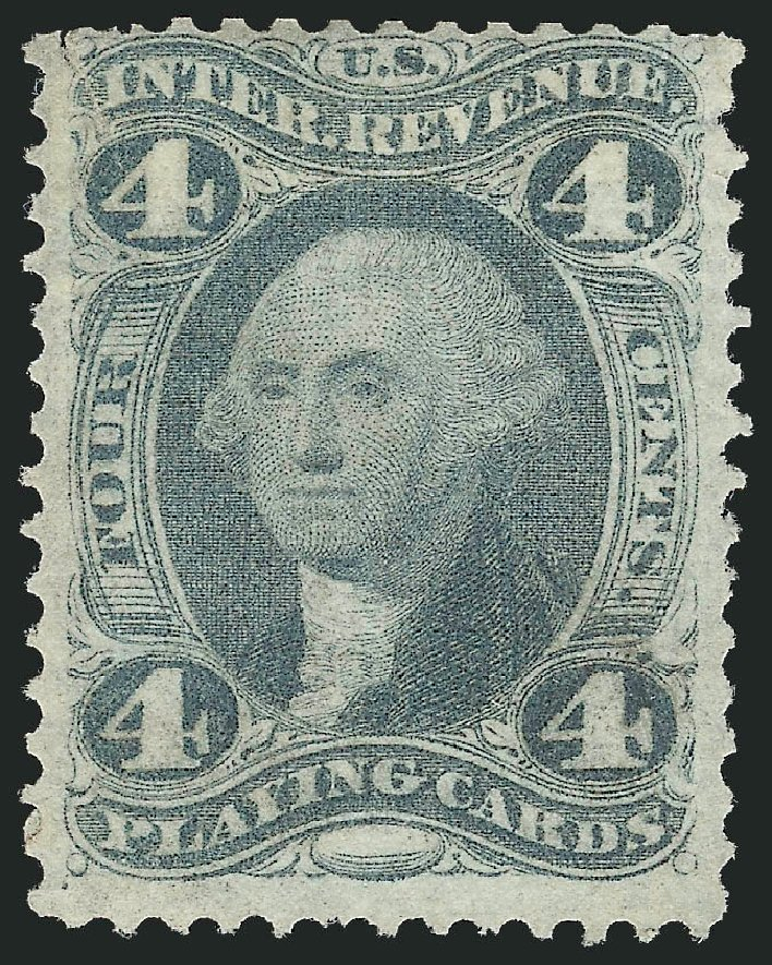 US Stamp Value Scott Catalogue # R21 - 4c 1863 Revenue Playing Cards. Robert Siegel Auction Galleries, Oct 2012, Sale 1031, Lot 1027