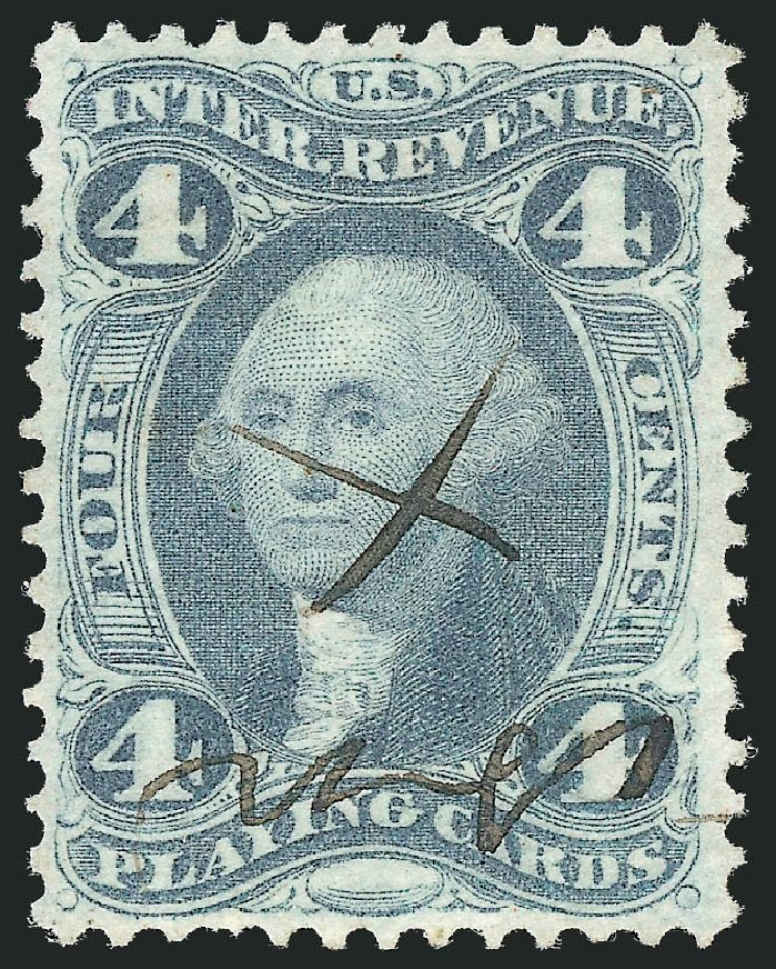 Price of US Stamp Scott Catalog #R21: 4c 1863 Revenue Playing Cards. Robert Siegel Auction Galleries, Nov 2011, Sale 1015, Lot 68