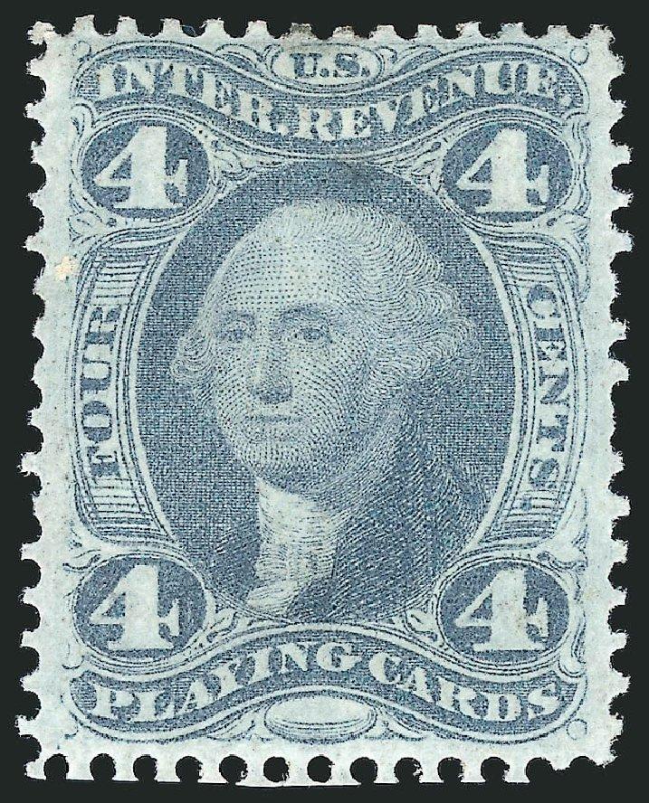 US Stamp Value Scott Catalog # R21: 4c 1863 Revenue Playing Cards. Robert Siegel Auction Galleries, Dec 2014, Sale 1089, Lot 301