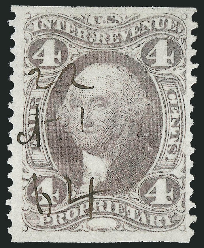 US Stamps Value Scott Catalogue # R22 - 4c 1862 Revenue Proprietary. Robert Siegel Auction Galleries, Nov 2011, Sale 1015, Lot 48