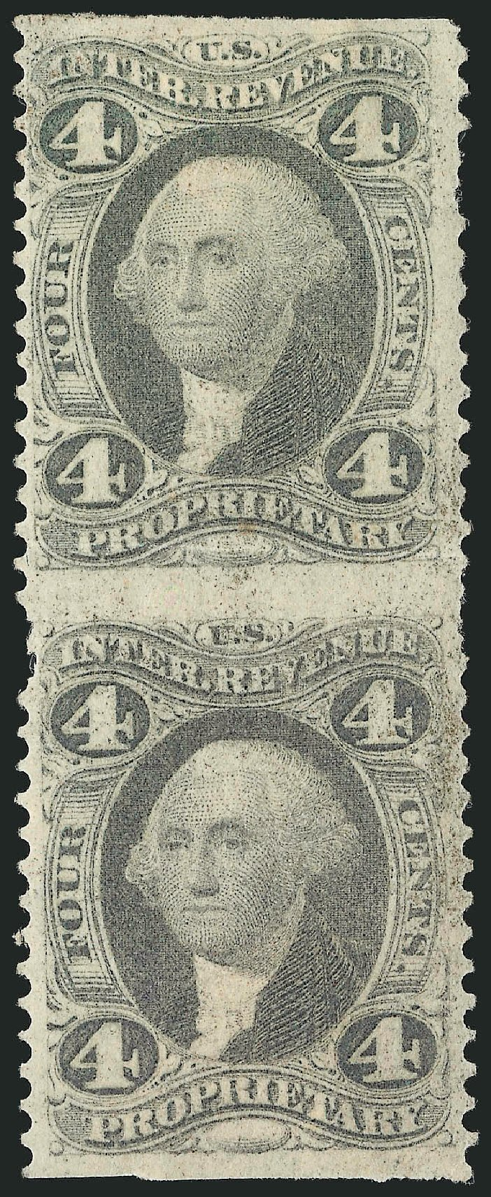 Value of US Stamp Scott Catalog # R22 - 1862 4c Revenue Proprietary. Robert Siegel Auction Galleries, Dec 2014, Sale 1089, Lot 289