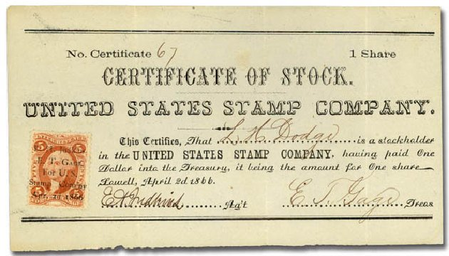 US Stamp Price Scott Catalog # R26: 1862 5c Revenue Foreign Exchange. Daniel Kelleher Auctions, May 2015, Sale 665, Lot 23
