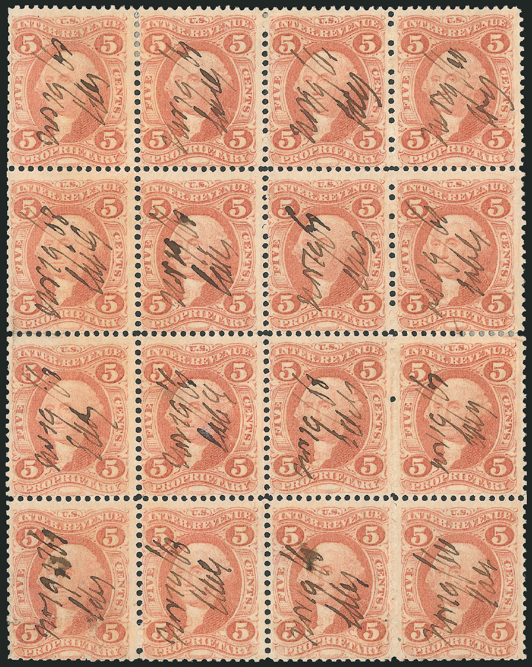 Price of US Stamps Scott Cat. #R29: 5c 1864 Revenue Proprietary. Robert Siegel Auction Galleries, Dec 2014, Sale 1089, Lot 427