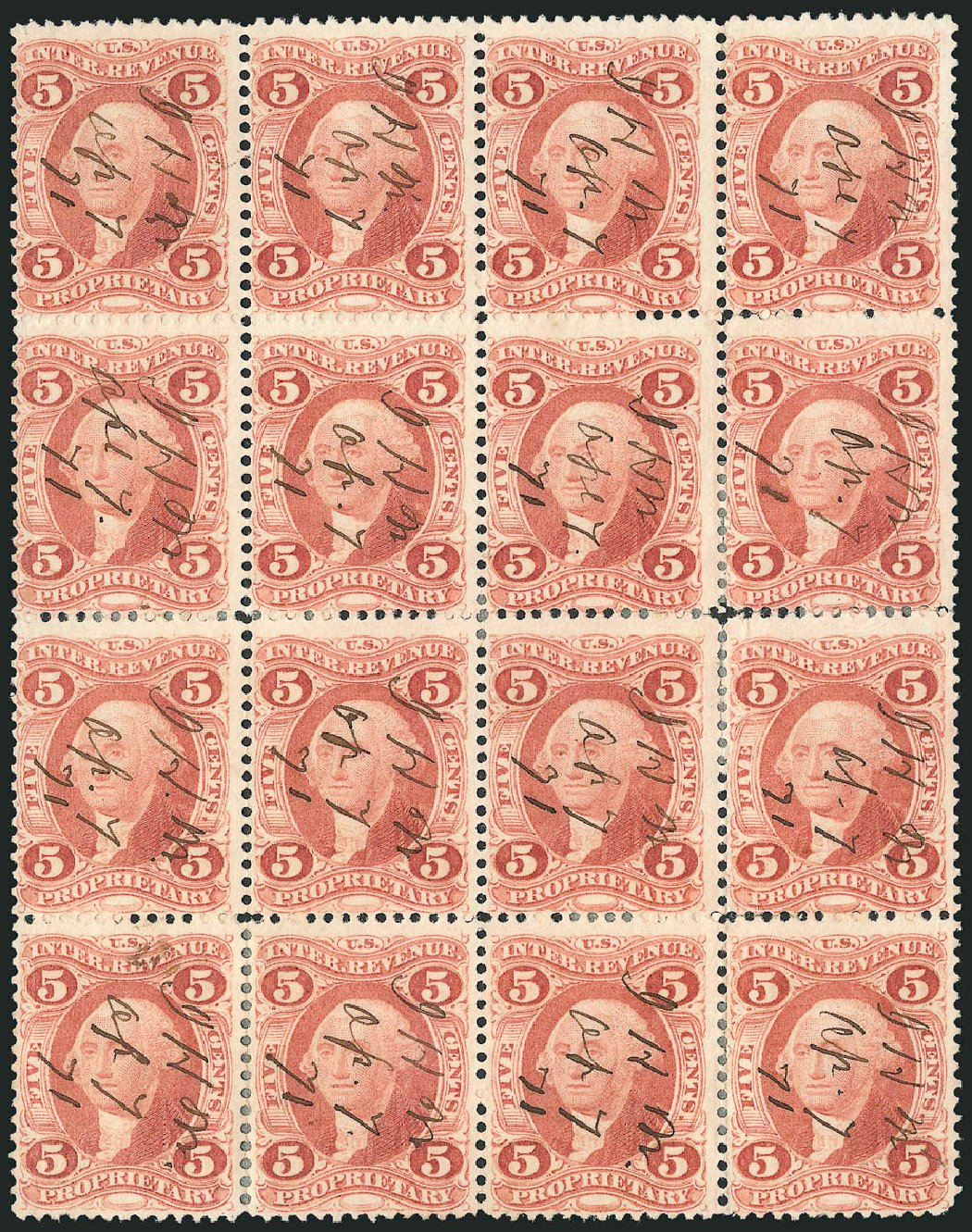 US Stamps Value Scott Catalog # R29 - 5c 1864 Revenue Proprietary. Robert Siegel Auction Galleries, Oct 2010, Sale 997, Lot 6574