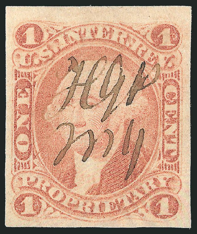US Stamps Price Scott # R3 - 1c 1862 Revenue Proprietary. Robert Siegel Auction Galleries, Mar 2014, Sale 1067, Lot 519