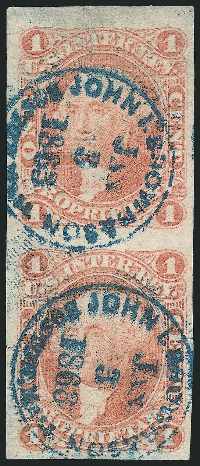 Value of US Stamp Scott Catalog R3: 1862 1c Revenue Proprietary. Robert Siegel Auction Galleries, Dec 2014, Sale 1089, Lot 320