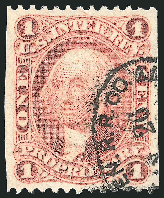 Price of US Stamps Scott Catalog R3 - 1c 1862 Revenue Proprietary. Robert Siegel Auction Galleries, Nov 2011, Sale 1015, Lot 41