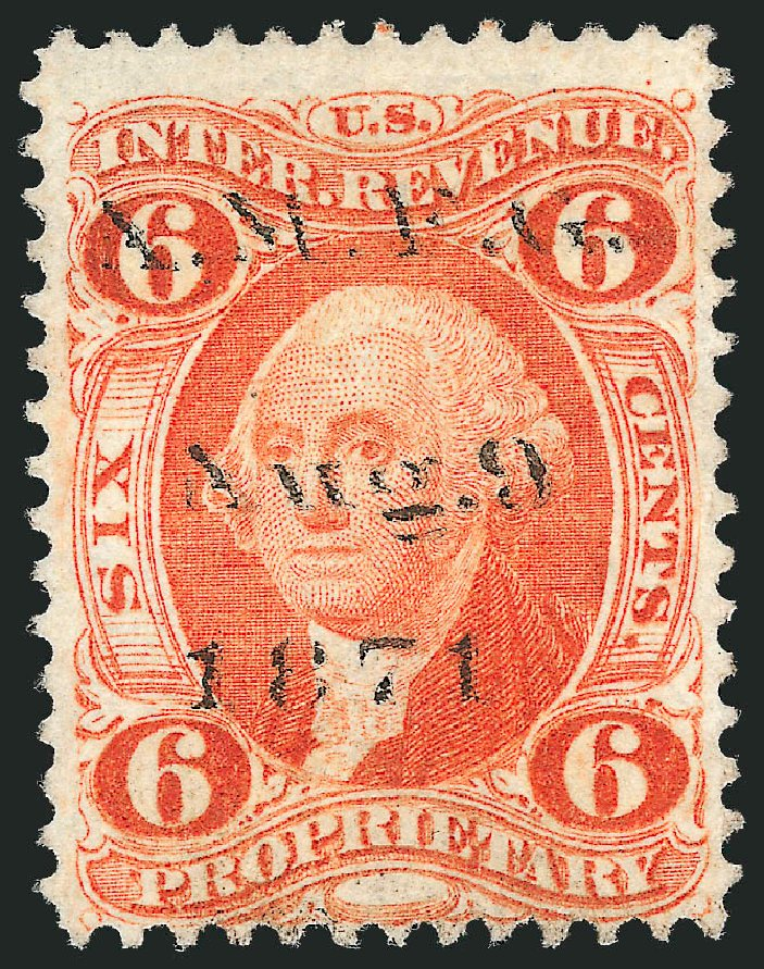 Prices of US Stamps Scott #R31 - 6c 1871 Revenue Proprietary. Robert Siegel Auction Galleries, Nov 2011, Sale 1015, Lot 69
