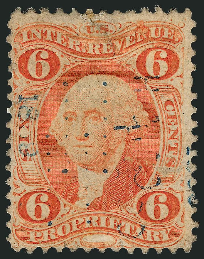 Price of US Stamps Scott Catalog #R31 - 1871 6c Revenue Proprietary. Robert Siegel Auction Galleries, Nov 2013, Sale 1061, Lot 4274