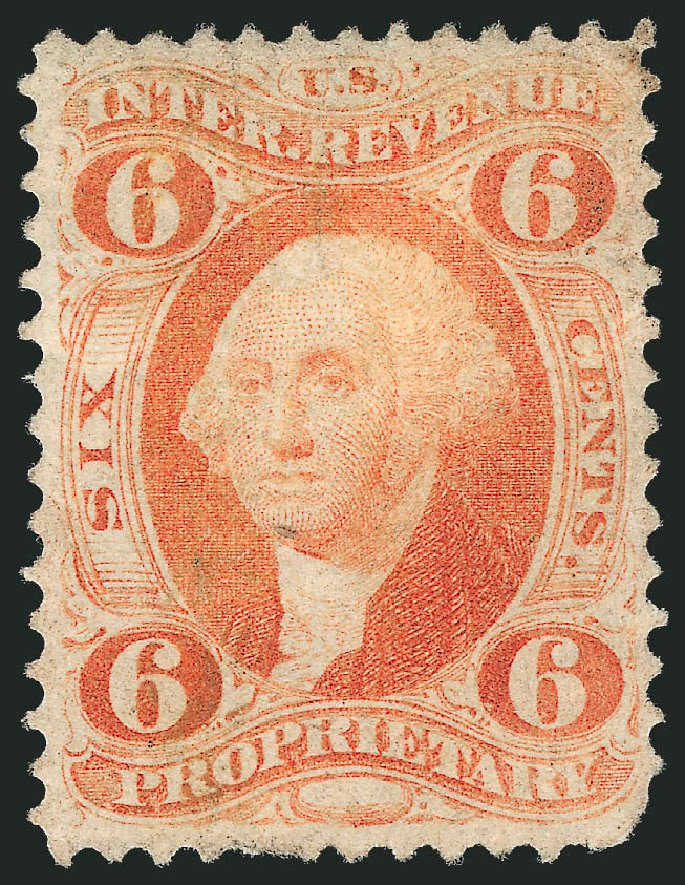 Values of US Stamps Scott Cat. #R31: 6c 1871 Revenue Proprietary. Robert Siegel Auction Galleries, Mar 2014, Sale 1067, Lot 524