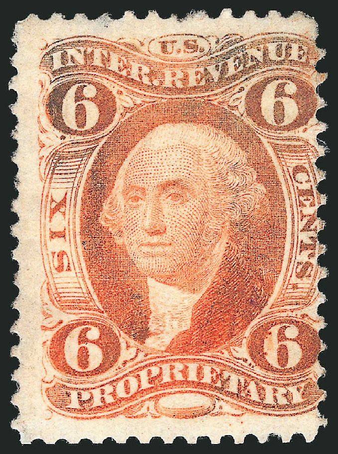 US Stamp Price Scott #R31 - 6c 1871 Revenue Proprietary. Robert Siegel Auction Galleries, Nov 2013, Sale 1061, Lot 4275