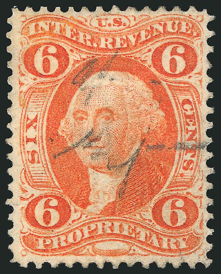 Value of US Stamps Scott #R31: 1871 6c Revenue Proprietary. Robert Siegel Auction Galleries, Dec 2014, Sale 1089, Lot 305
