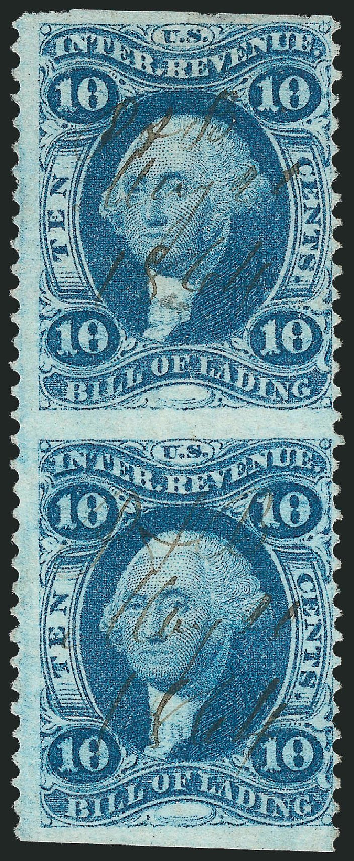 US Stamps Value Scott Catalog # R32: 1862 10c Revenue Bill of Lading. Robert Siegel Auction Galleries, Nov 2011, Sale 1015, Lot 49