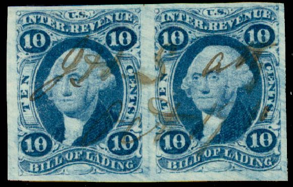 US Stamps Value Scott Cat. # R32: 10c 1862 Revenue Bill of Lading. Daniel Kelleher Auctions, May 2015, Sale 665, Lot 30