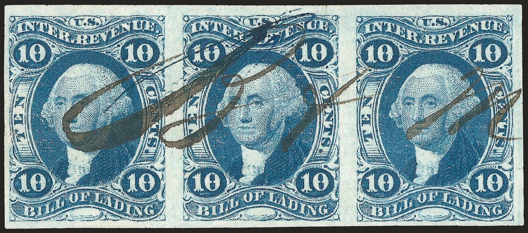 Value of US Stamp Scott Cat. #R32 - 10c 1862 Revenue Bill of Lading. Robert Siegel Auction Galleries, Dec 2008, Sale 967, Lot 5223