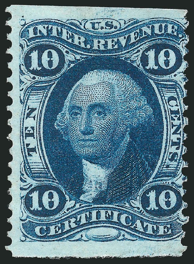Cost of US Stamp Scott Cat. # R33: 10c 1862 Revenue Certificate. Robert Siegel Auction Galleries, Oct 2012, Sale 1031, Lot 1023