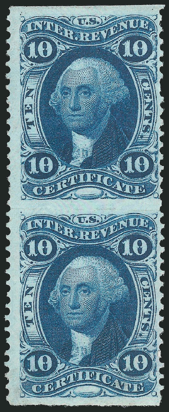 Price of US Stamp Scott Cat. # R33: 10c 1862 Revenue Certificate. Robert Siegel Auction Galleries, Dec 2014, Sale 1089, Lot 293