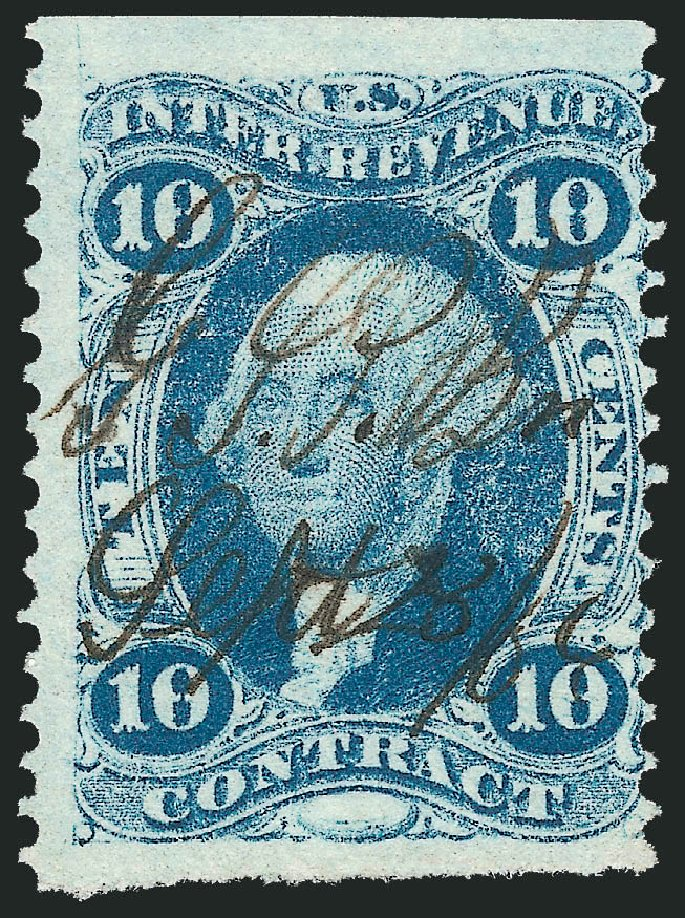 Costs of US Stamp Scott Cat. # R34: 10c 1862 Revenue Contract. Robert Siegel Auction Galleries, Nov 2011, Sale 1015, Lot 51