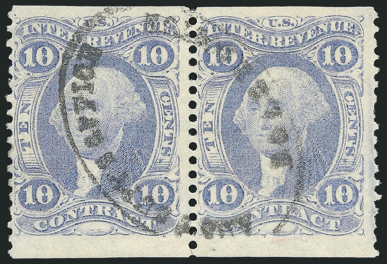 US Stamp Value Scott Cat. #R34 - 10c 1862 Revenue Contract. Robert Siegel Auction Galleries, Dec 2014, Sale 1089, Lot 403