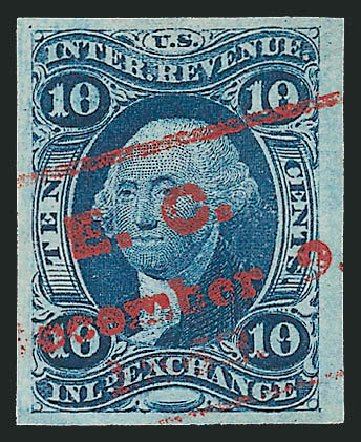 US Stamp Price Scott Catalog R36 - 10c 1862 Revenue Inland Exchange. Robert Siegel Auction Galleries, Mar 2014, Sale 1066, Lot 10