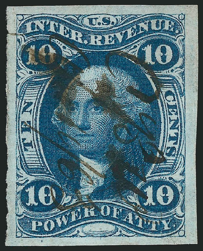 Values of US Stamps Scott #R37: 10c 1862 Revenue Power of Attorney. Robert Siegel Auction Galleries, Mar 2014, Sale 1066, Lot 11