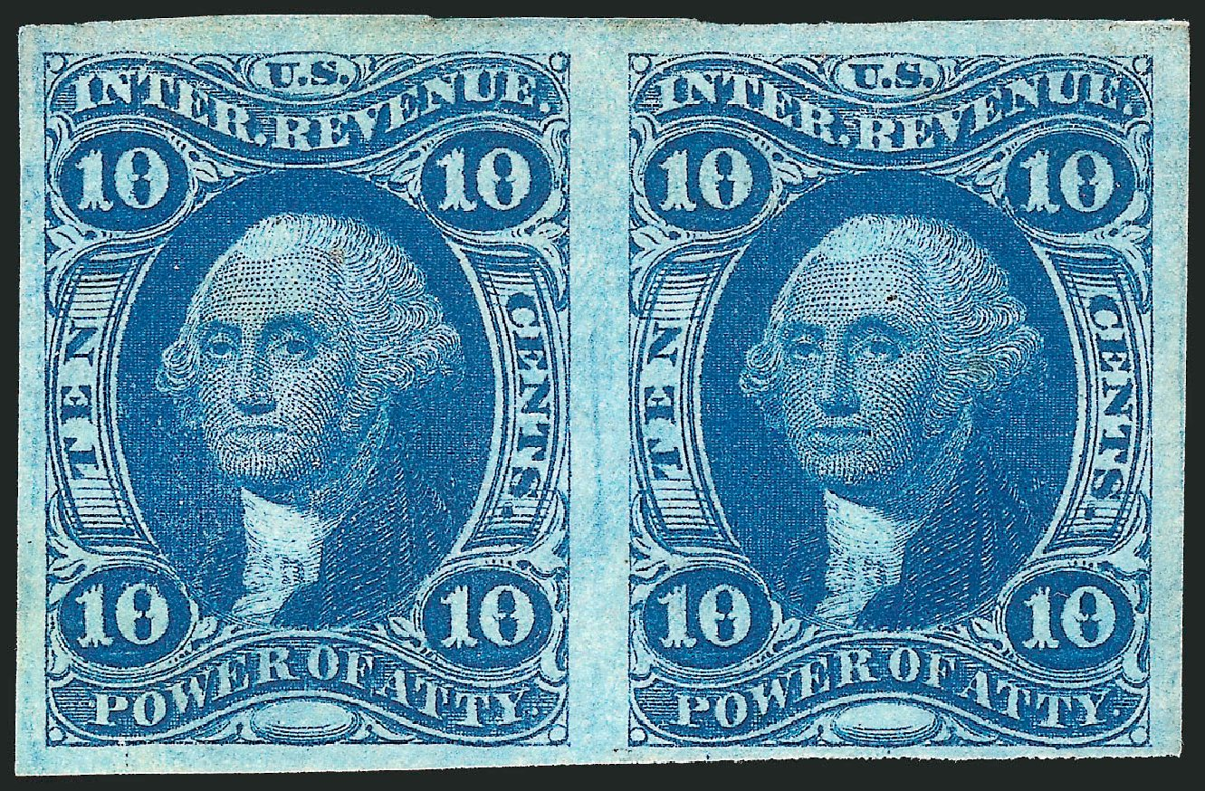 Prices of US Stamps Scott Catalog # R37 - 10c 1862 Revenue Power of Attorney. Robert Siegel Auction Galleries, Dec 2014, Sale 1089, Lot 224
