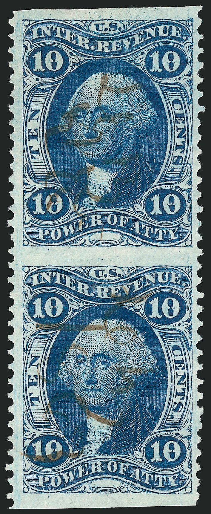 Value of US Stamps Scott R37 - 10c 1862 Revenue Power of Attorney. Robert Siegel Auction Galleries, Nov 2011, Sale 1015, Lot 52