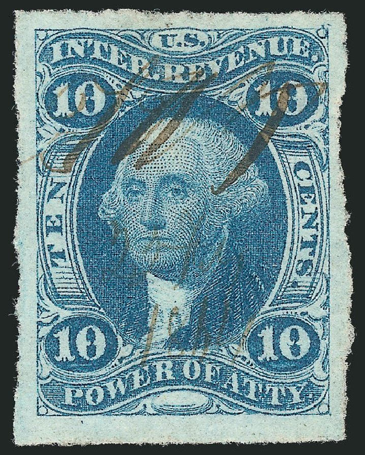 US Stamps Price Scott Catalog #R37 - 10c 1862 Revenue Power of Attorney. Robert Siegel Auction Galleries, Dec 2014, Sale 1089, Lot 223