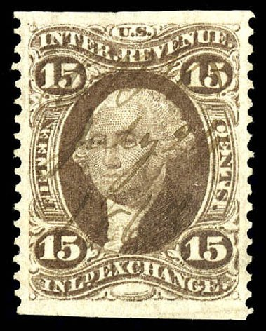 US Stamps Prices Scott # R40: 15c 1862 Revenue Inland Exchange. Matthew Bennett International, Dec 2008, Sale 330, Lot 1970