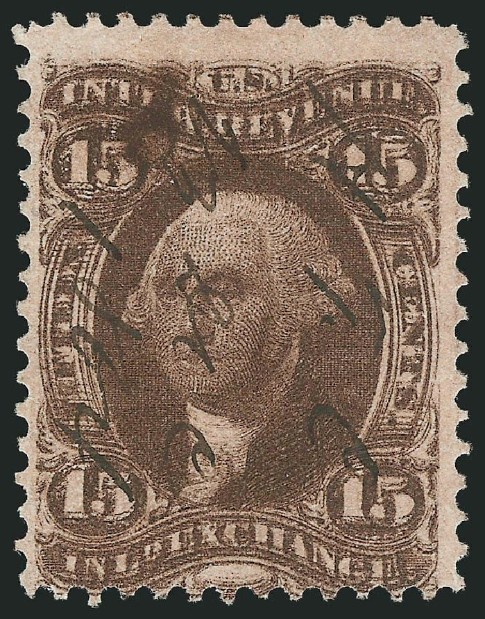 Price of US Stamps Scott Catalog #R40: 1862 15c Revenue Inland Exchange. Robert Siegel Auction Galleries, Mar 2014, Sale 1066, Lot 65