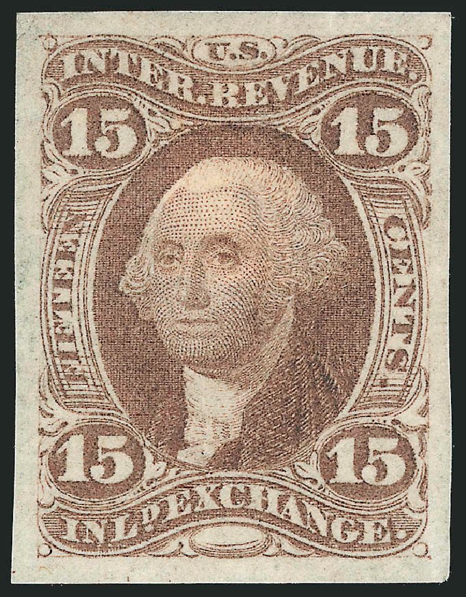 Prices of US Stamps Scott Catalogue # R40: 1862 15c Revenue Inland Exchange. Robert Siegel Auction Galleries, Dec 2014, Sale 1089, Lot 225