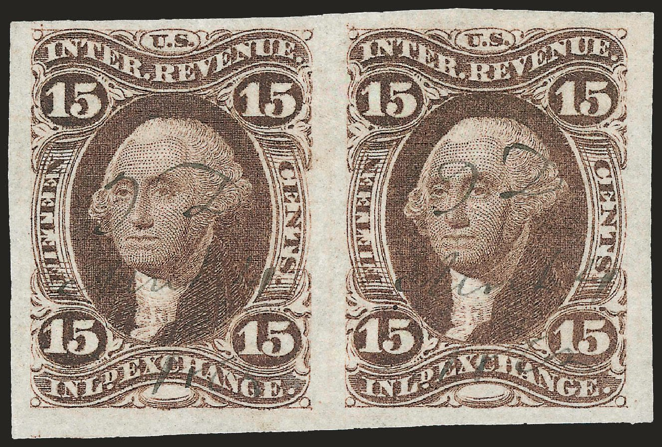 Cost of US Stamp Scott Catalogue #R40: 15c 1862 Revenue Inland Exchange. Robert Siegel Auction Galleries, Dec 2008, Sale 967, Lot 5226