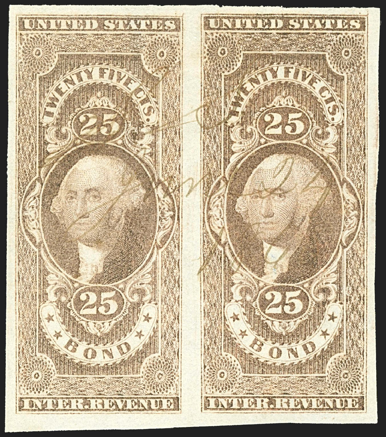 US Stamp Value Scott # R43: 1862 25c Revenue Bond. Robert Siegel Auction Galleries, Jul 2015, Sale 1107, Lot 659