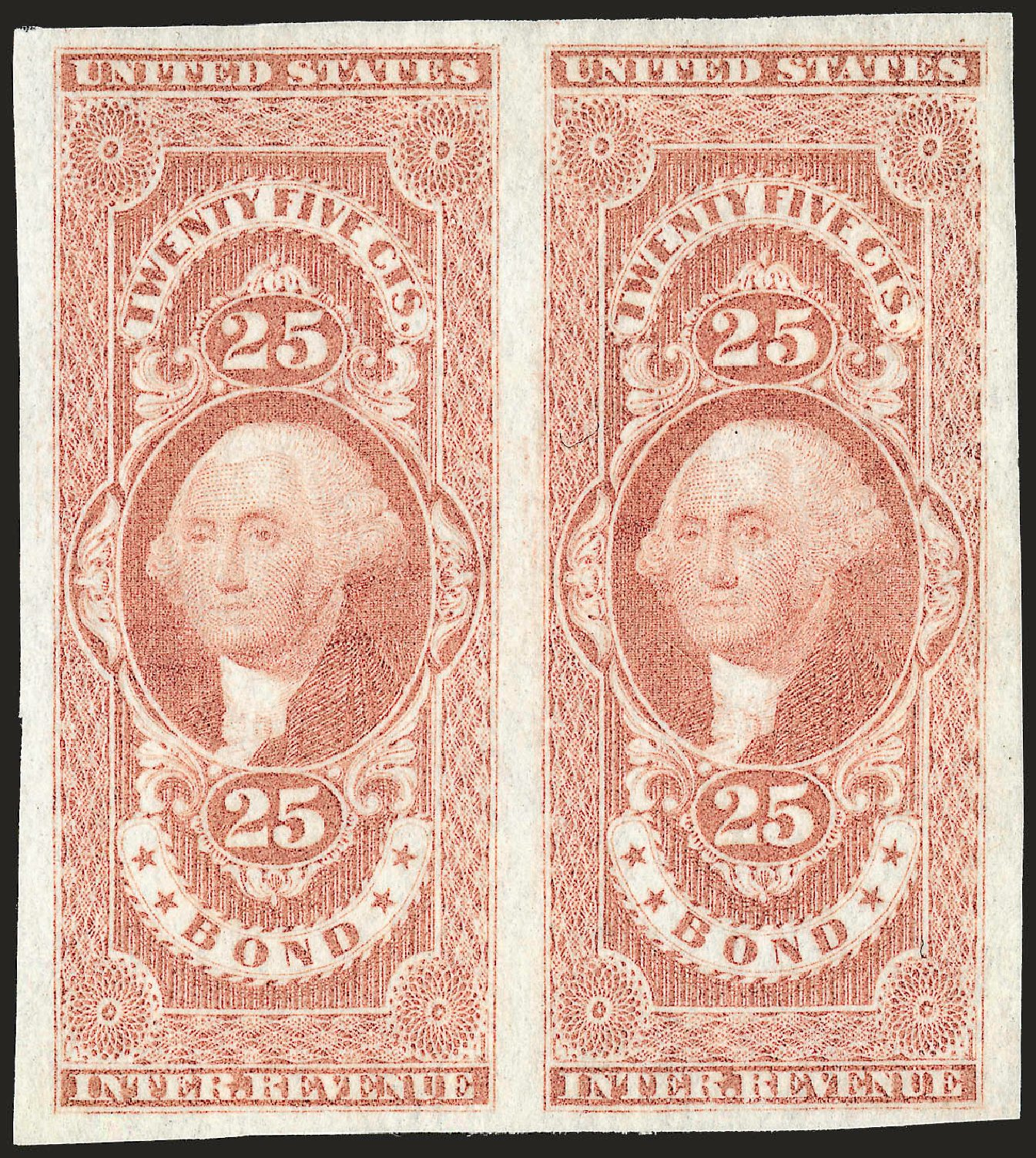 Value of US Stamps Scott Cat. R43: 1862 25c Revenue Bond. Robert Siegel Auction Galleries, Dec 2008, Sale 967, Lot 5229