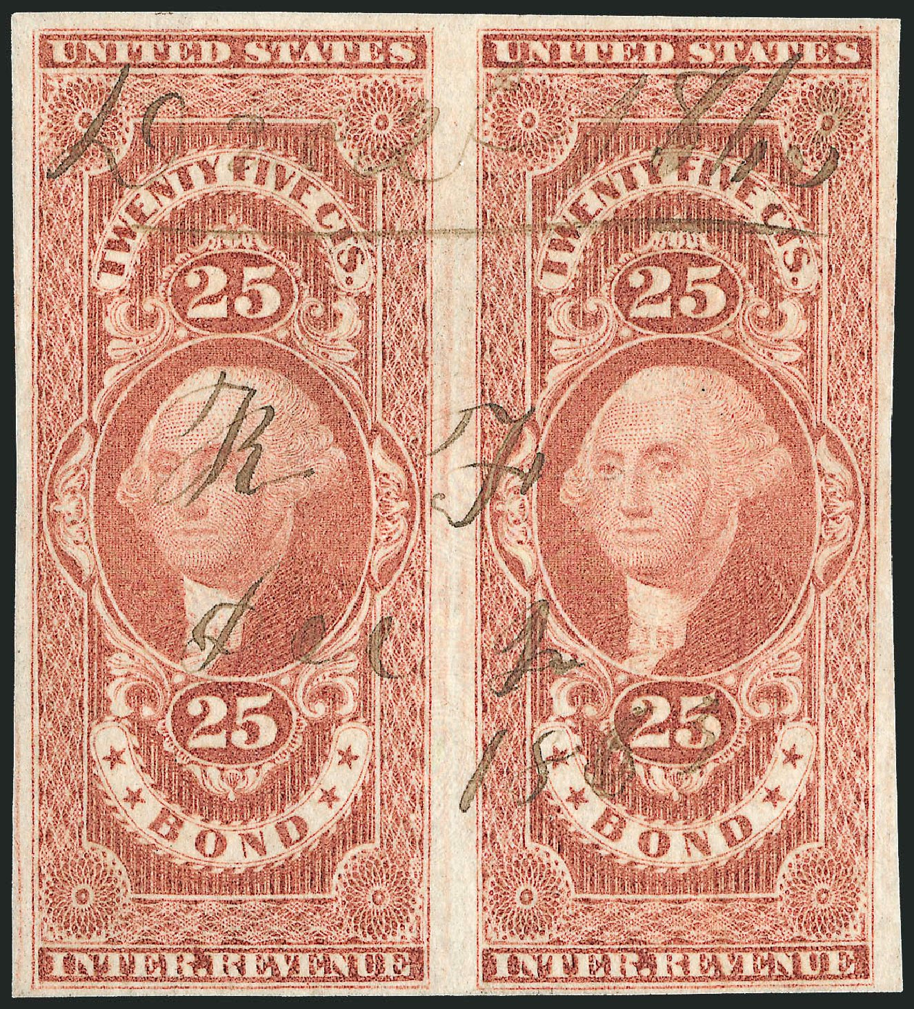 Cost of US Stamp Scott Catalog #R43: 1862 25c Revenue Bond. Robert Siegel Auction Galleries, Jun 2011, Sale 1011, Lot 941