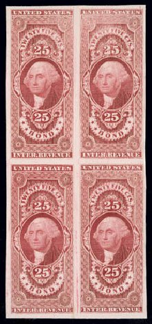 Cost of US Stamps Scott Catalog # R43: 25c 1862 Revenue Bond. Matthew Bennett International, Jun 2008, Sale 328, Lot 1323