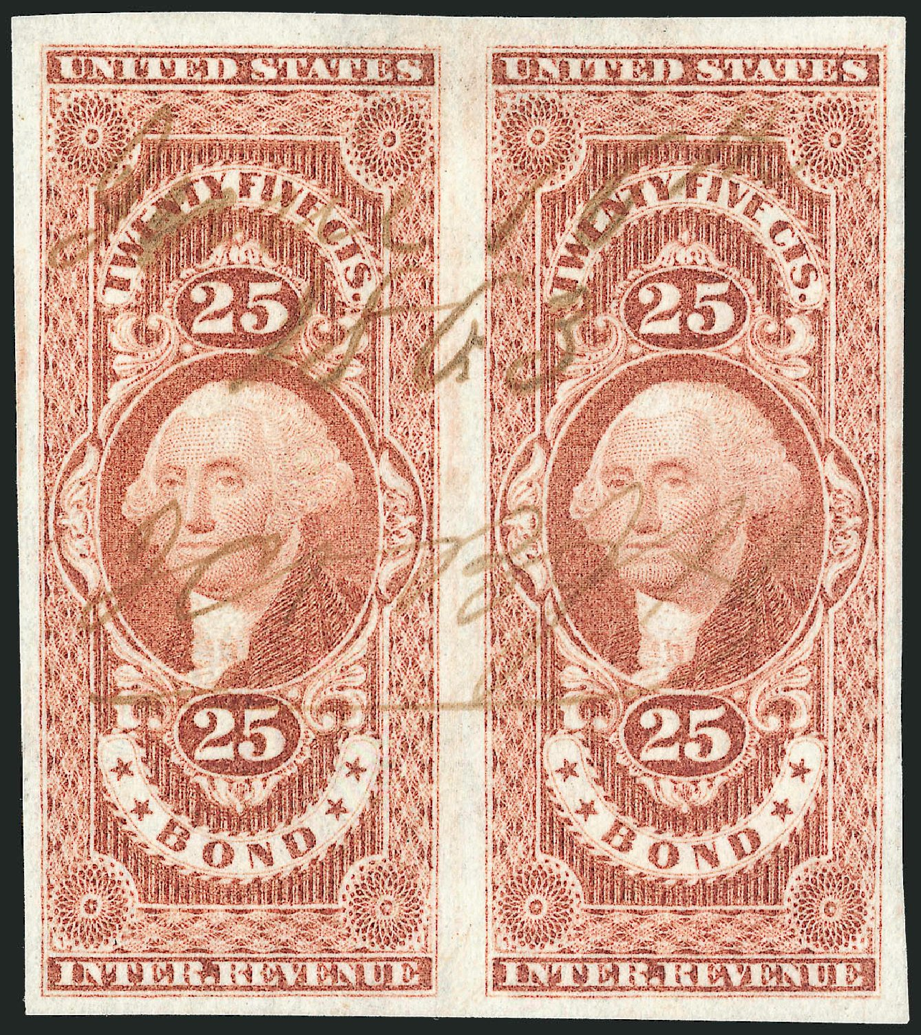 US Stamps Values Scott Cat. #R43 - 25c 1862 Revenue Bond. Robert Siegel Auction Galleries, Dec 2014, Sale 1089, Lot 226