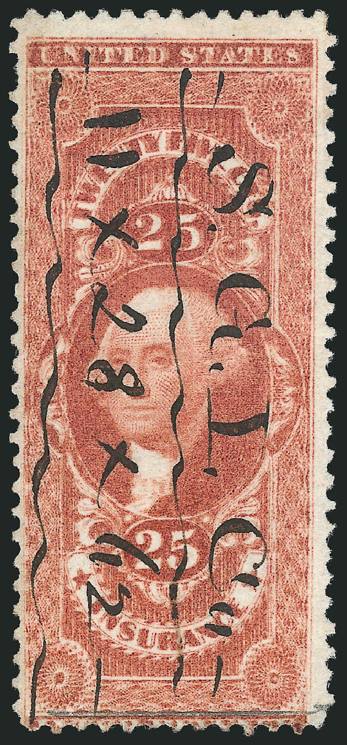 US Stamps Prices Scott # R46: 1862 25c Revenue Insurance. Robert Siegel Auction Galleries, Mar 2014, Sale 1066, Lot 68