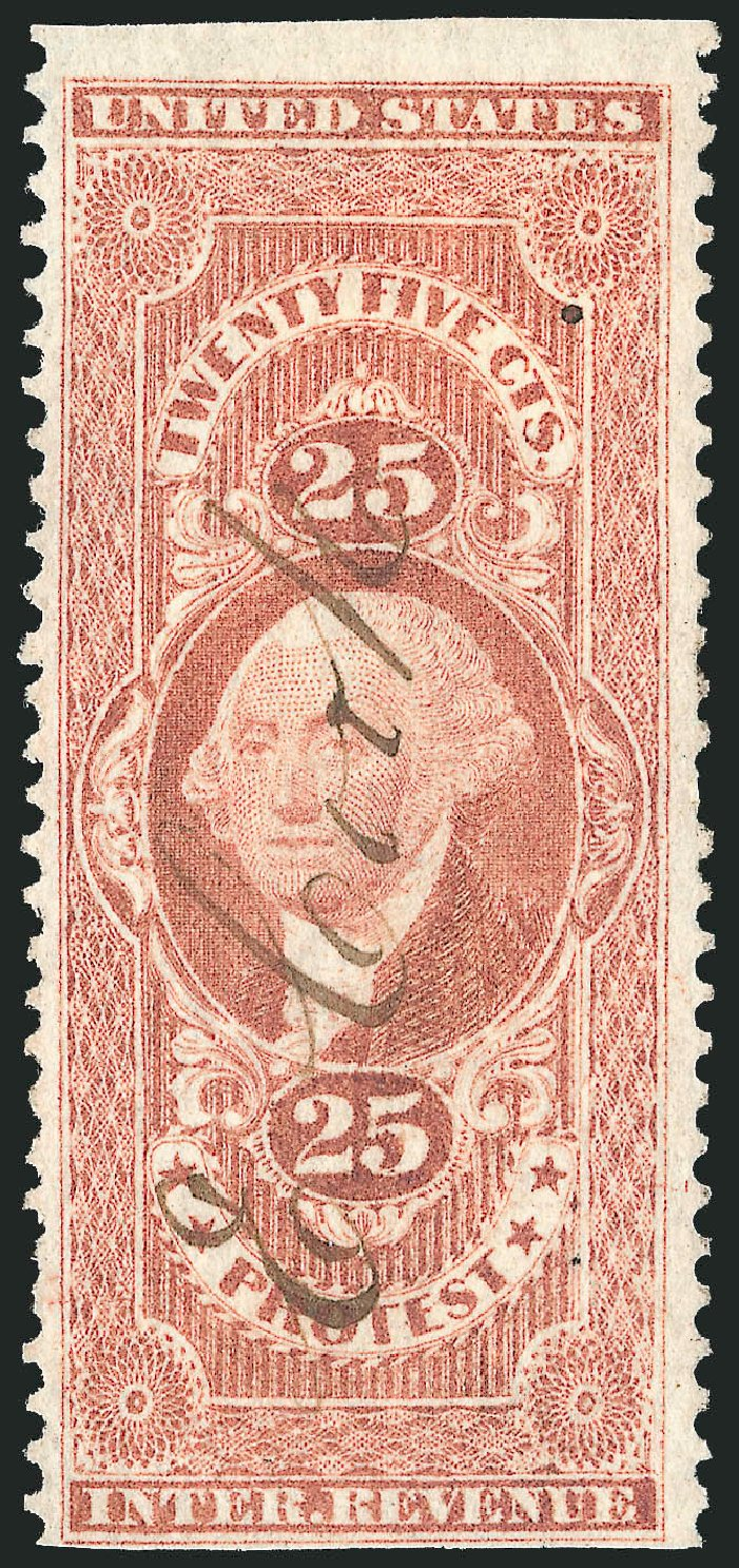 US Stamp Value Scott Cat. # R49: 25c 1862 Revenue Protest. Robert Siegel Auction Galleries, Mar 2014, Sale 1067, Lot 528