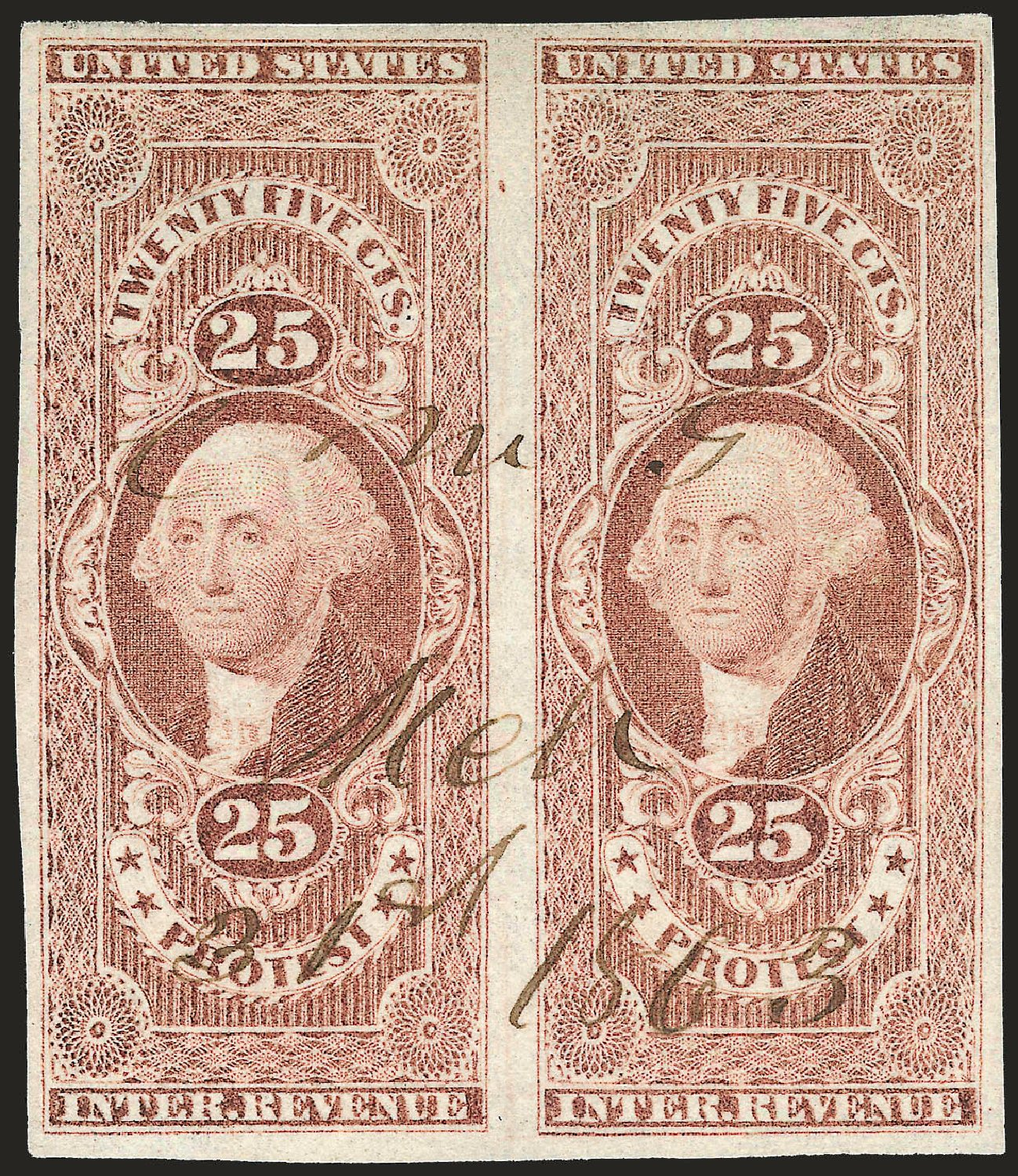 US Stamps Price Scott Catalog #R49: 25c 1862 Revenue Protest. Robert Siegel Auction Galleries, Dec 2008, Sale 967, Lot 5230
