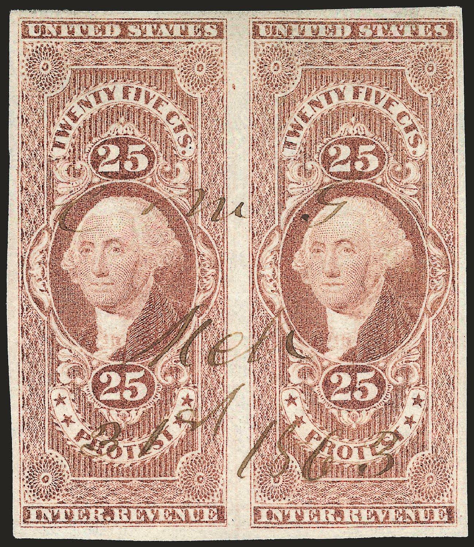 US Stamps Price Scott Catalog #R49: 25c 1862 Revenue Protest. Robert Siegel Auction Galleries, Dec 2008, Sale 967, Lot 5230