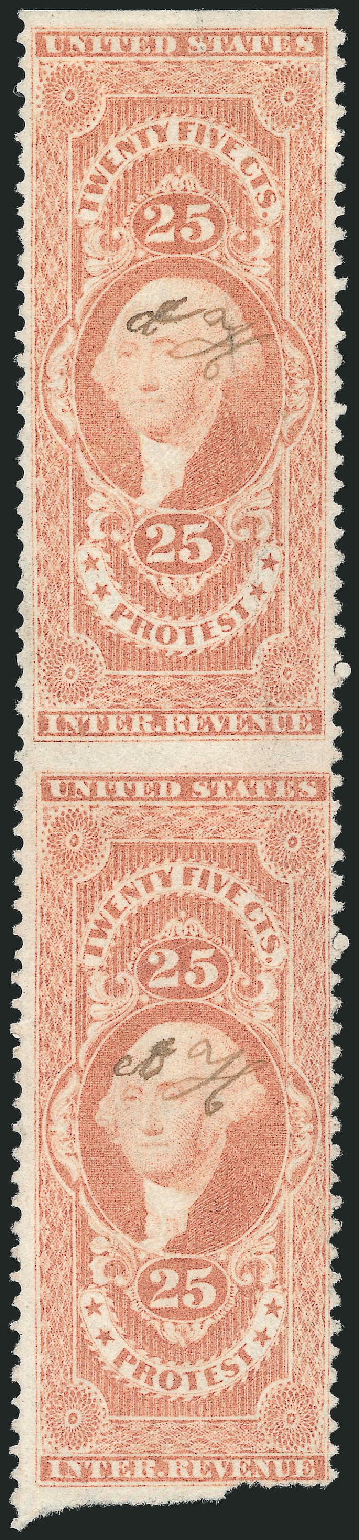 Price of US Stamps Scott # R49 - 25c 1862 Revenue Protest. Robert Siegel Auction Galleries, Dec 2014, Sale 1089, Lot 405
